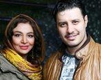 عکس لورفته از جواد عزتی در پشت صحنه سریال زخم کاری   جواد عزتی و همسرش