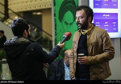 مصاحبه با حسام منظور بازیگر در هفتمین روز سی و هشتمین جشنواره فیلم فجر در پردیس چارسو