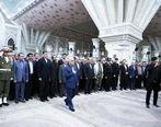 تجدید میثاق مدیر عامل و مدیران بانک رفاه با آرمانهای امام و انقلاب