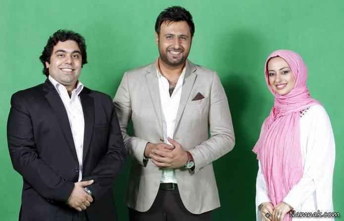 نفیسه روشن و همسرش در کنار محمد علیزاده