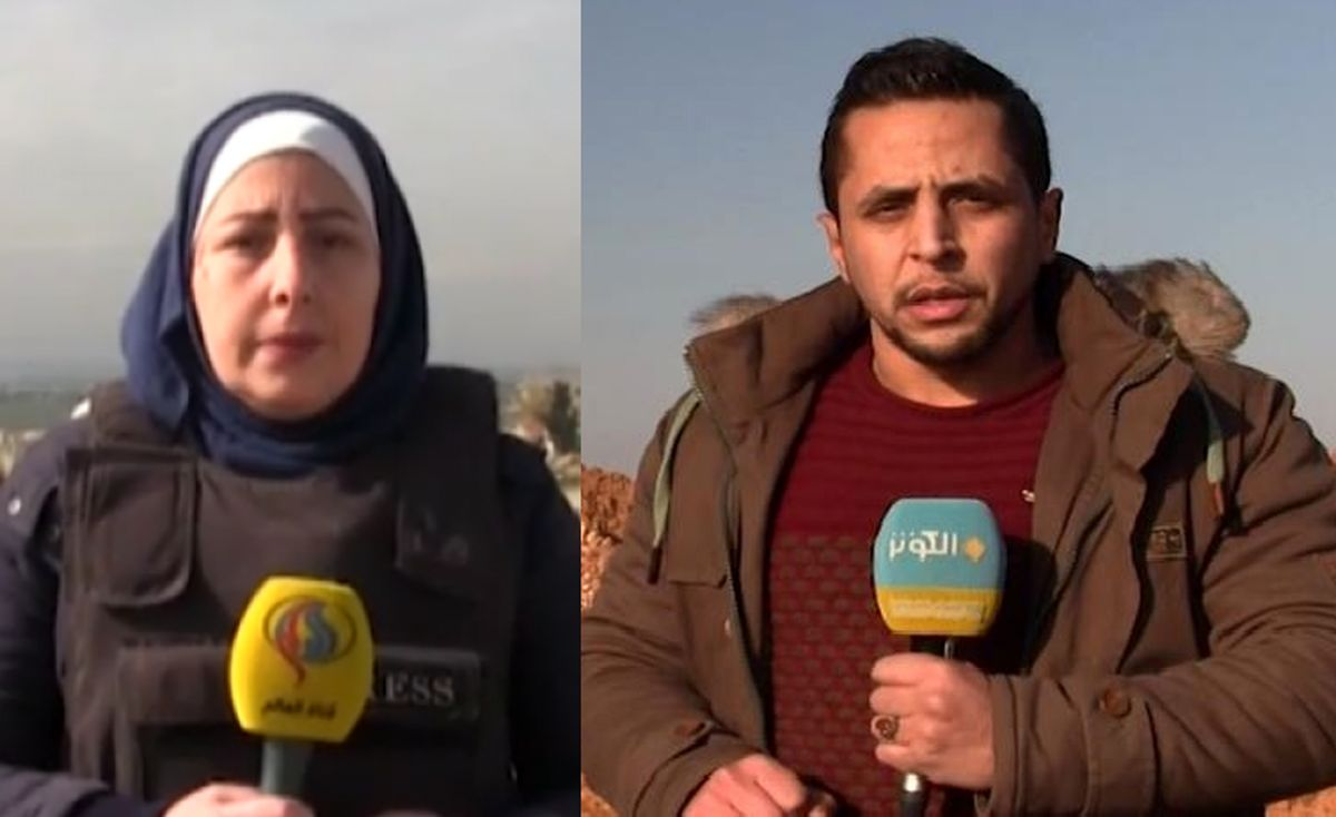 حمله تروریستها به خبرنگاران العالم و الکوثر در حلب