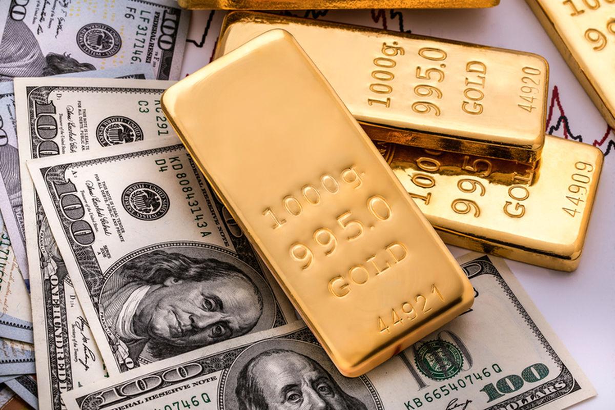سبقت ناگهانی دلار از طلا