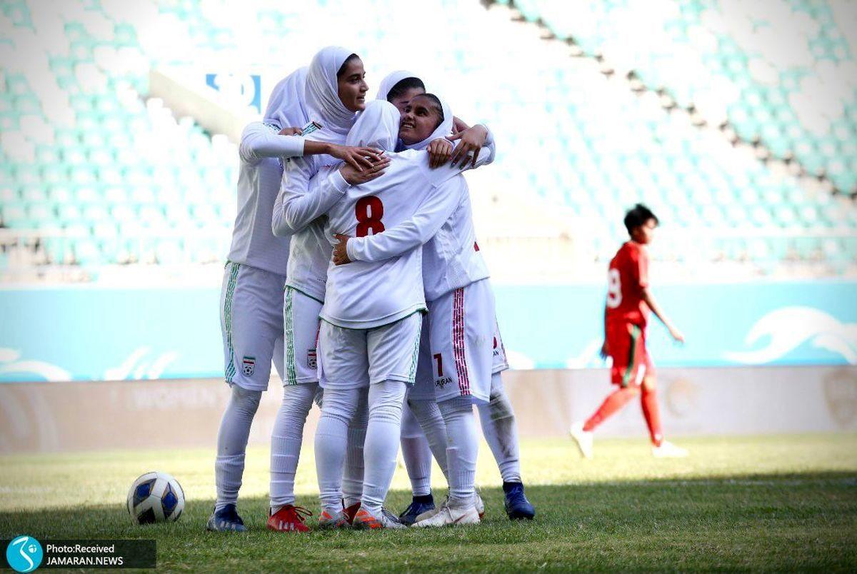 نتیجه دیدار تیم ملی فوتبال بانوان ایران با بنگلادش