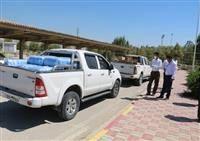 تحویل محموله بهداشتی منطقه ویژه پارس به فرمانداری عسلویه