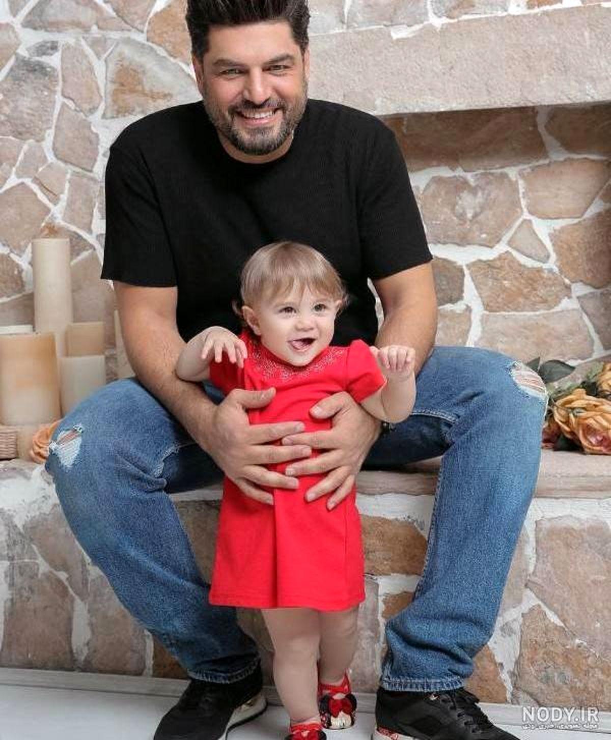 سام درخشانی و دخترش برکه | عکس