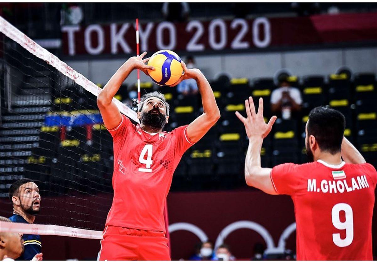 المپیک ۲۰۲۰ توکیو  پایان روز چهارم با دومین برد تیم ملی والیبال