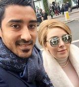 عکس های جنجالی و لورفته از قوچان نژاد و همسرش در خارج + تصاویر