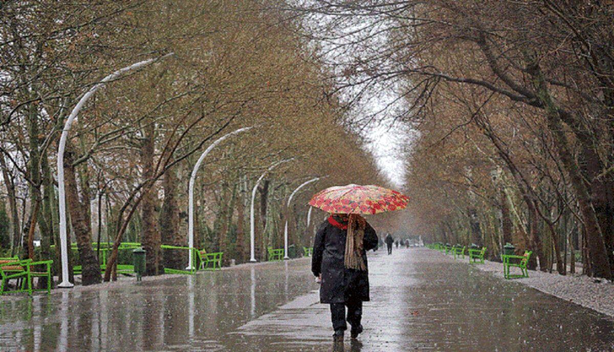 تداوم بارشها و کاهش نسبی دما در کشور