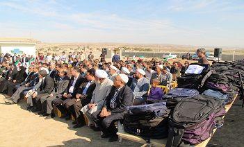 توزیع بسته های اهدایی همراه اول بین دانش آموزان منطقه محروم گلستان