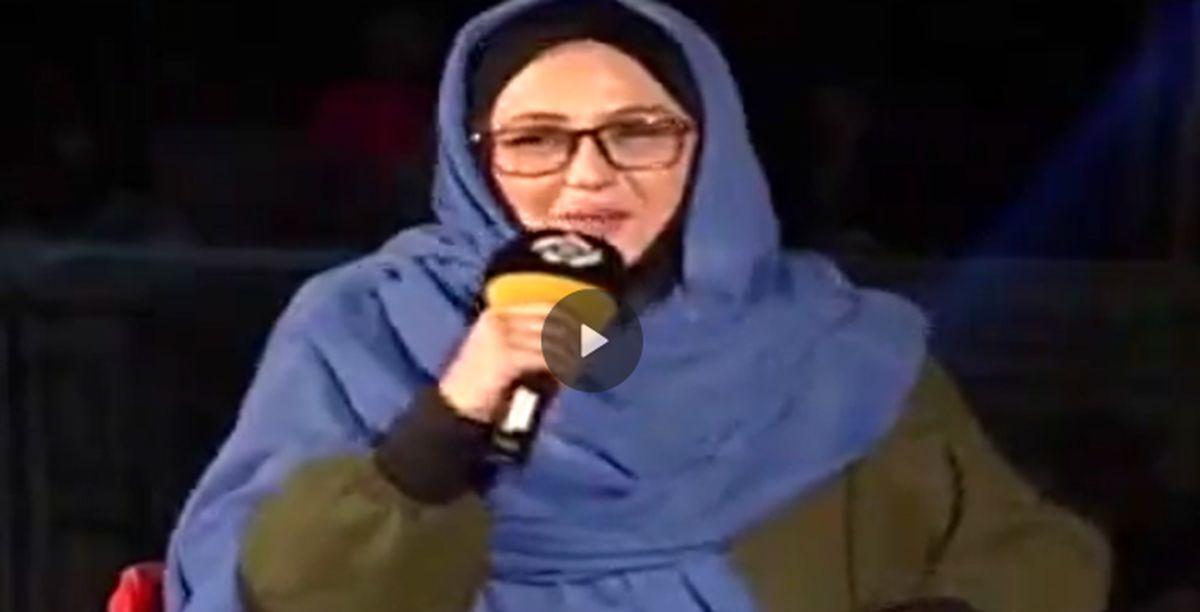 خواندن ترانه ی لیلا فروهر توسط بهنوش بختیاری در انتن زنده + فیلم
