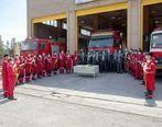 دیدار جمعی از معاونین و مدیران شرکت گلگهر با آتشنشانان گلگهر