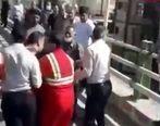 فیلم دردناک از خودکشی زن خرم آبادی از روی پل + فیلم