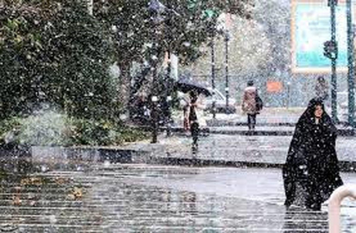 تداوم بارش برف و باران در برخی مناطق کشور
