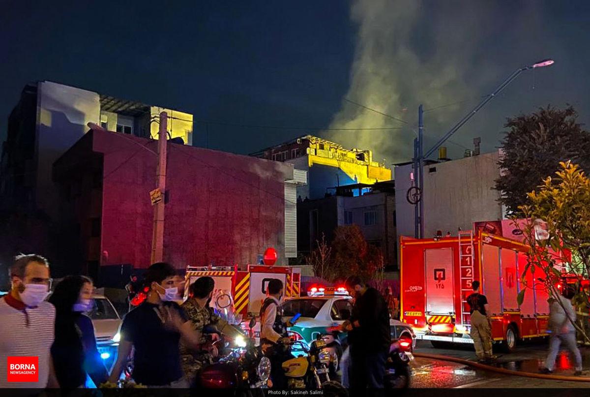 فیلم لورفته از لحظه وقوع انفجار در کلینیک شمال تهران + فیلم
