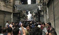 اعتصاب مسالمتآمیز کسبه در بازار +عکس