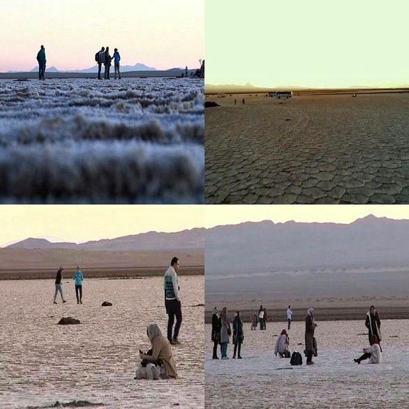 سالانه بیش از ۱۵۰ هزار نفر گردشگر و مسافر از دریاچه نمک خوروبیابانک دیدن میکنند
