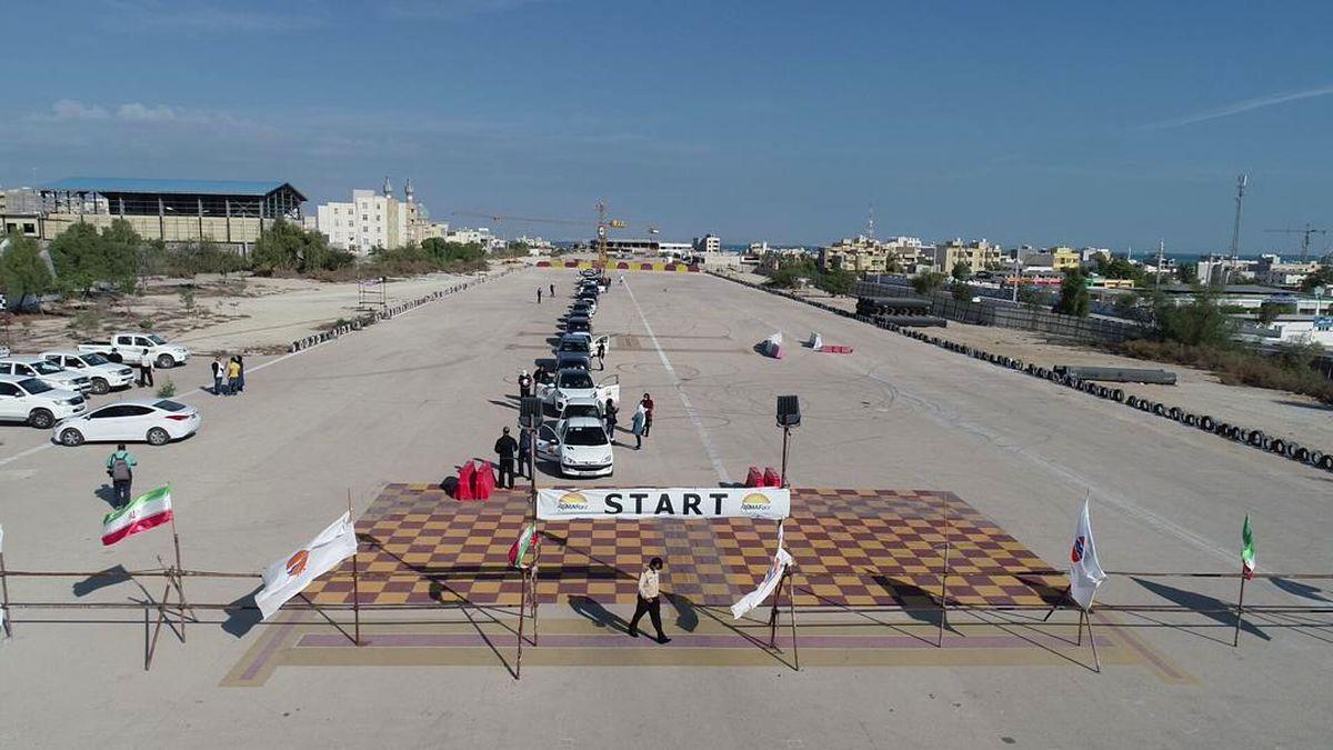 اولین دوره مسابقات رالی گردشگری خانواده درمنطقه آزاد قشم برگزار شد