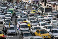 وضعیت پربار ترافیکی معابر تهران در اولین روز هفته