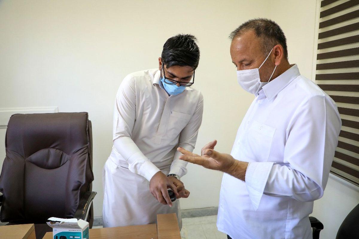اهدای خون و غربالگری کارکنان سازمان منطقه آزاد چابهار