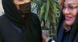 عکس حاشیه ساز بهاره رهنما در مراسم ختم + عکس