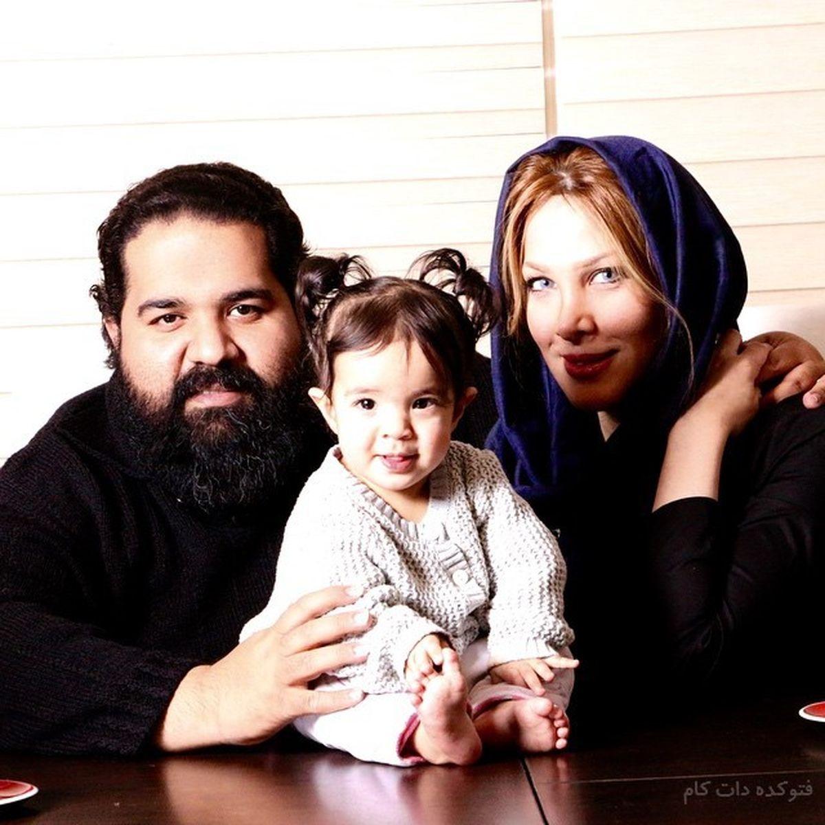 تشکر متفاوت و زیبای رضا صادقی از همسرش   عکس رضا صادقی و همسرش