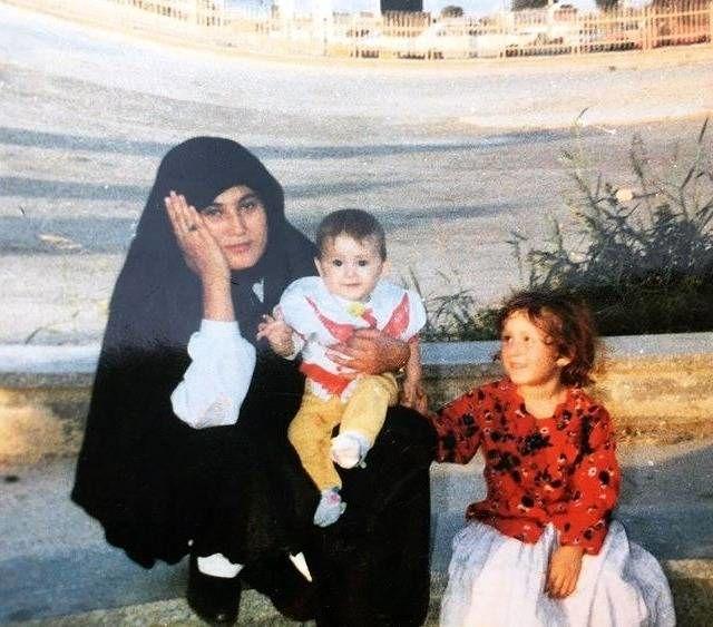 فرشته حسینی و مادرش