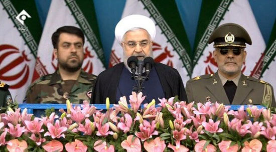 حمایت همه جانبه روحانی از سپاه