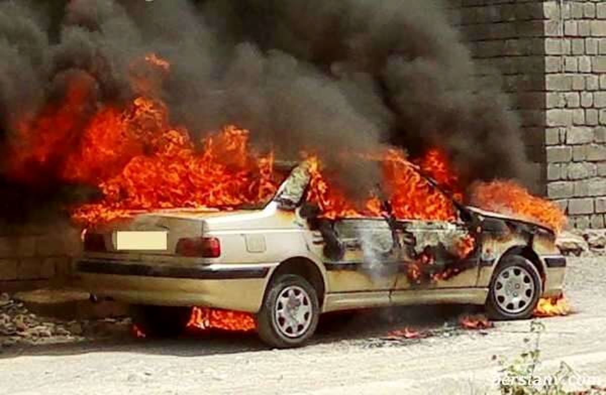 فیلم عجیب از آتش زدن خودرو ها در تهران   فیلم آتش زدن خودرو