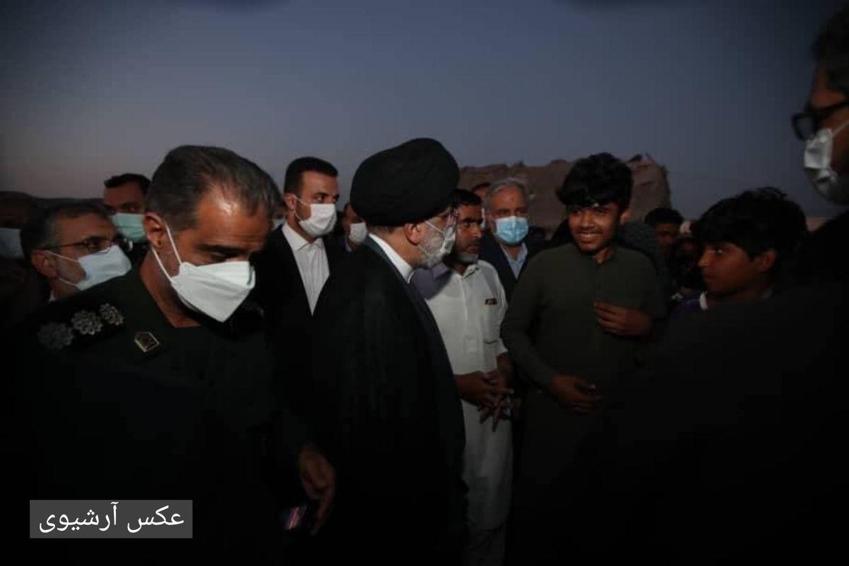 رییس جمهوری از مناطق حاشیهنشین چابهار دیدن کرد