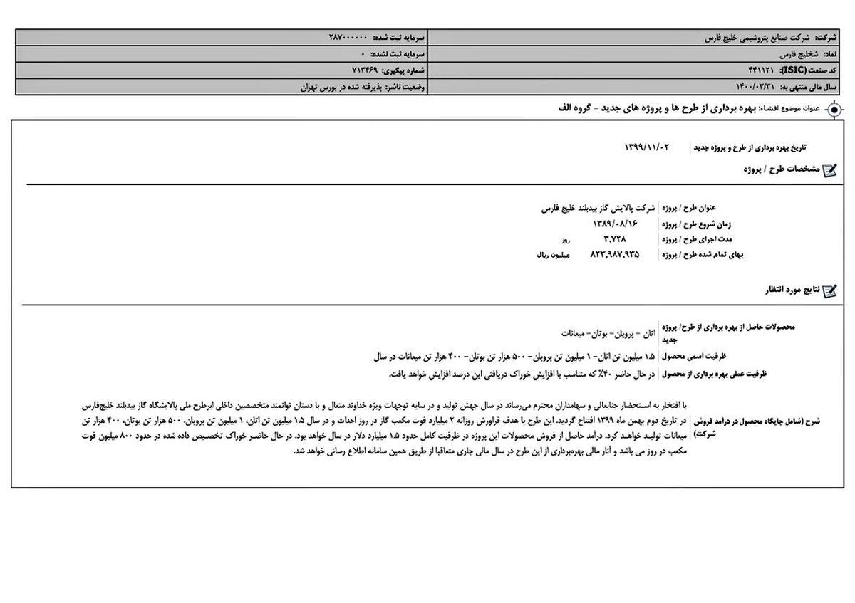 افشای اطلاعات الف فارس: درآمد تا یک و نیم میلیارد دلار سالانه با افتتاح بیدبلند خلیج فارس
