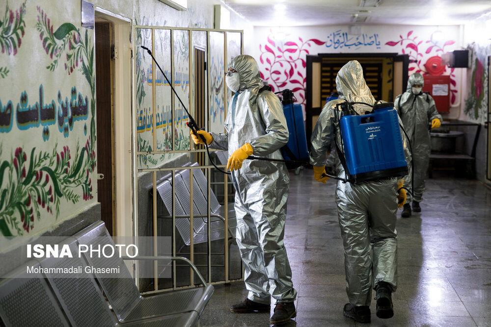 ضدعفونی زندان فشافویه / گزارش تصویری