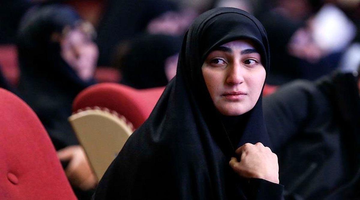 واکنش دختر سردار سلیمانی به پایان کار ترامپ + عکس
