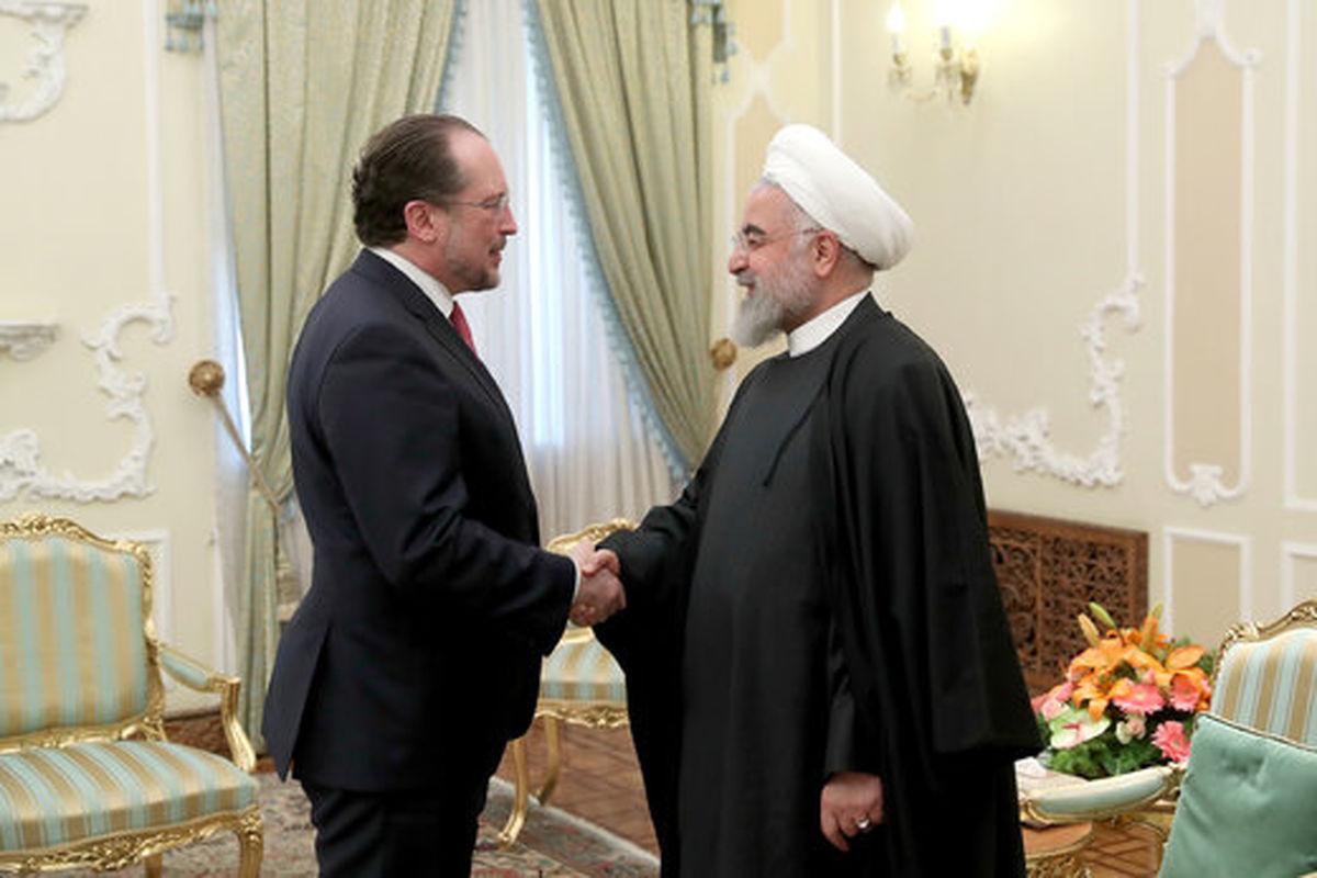 جزئیات دیدار رئیس جمهور با وزیر خارجه اتریش