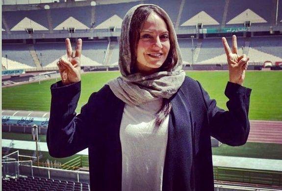 عکس لورفته از مهناز افشار در استادیوم آزادی برای تماشای دربی + عکس