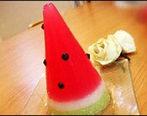 آموزش تهیه ژله به شکل هندوانه قیفی برای یلدا