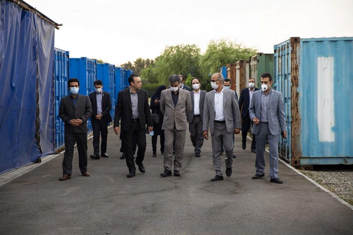بازدیدمدیران ارشد بانک تجارت از واحد نگهداری و تعمیرات ایران کیش