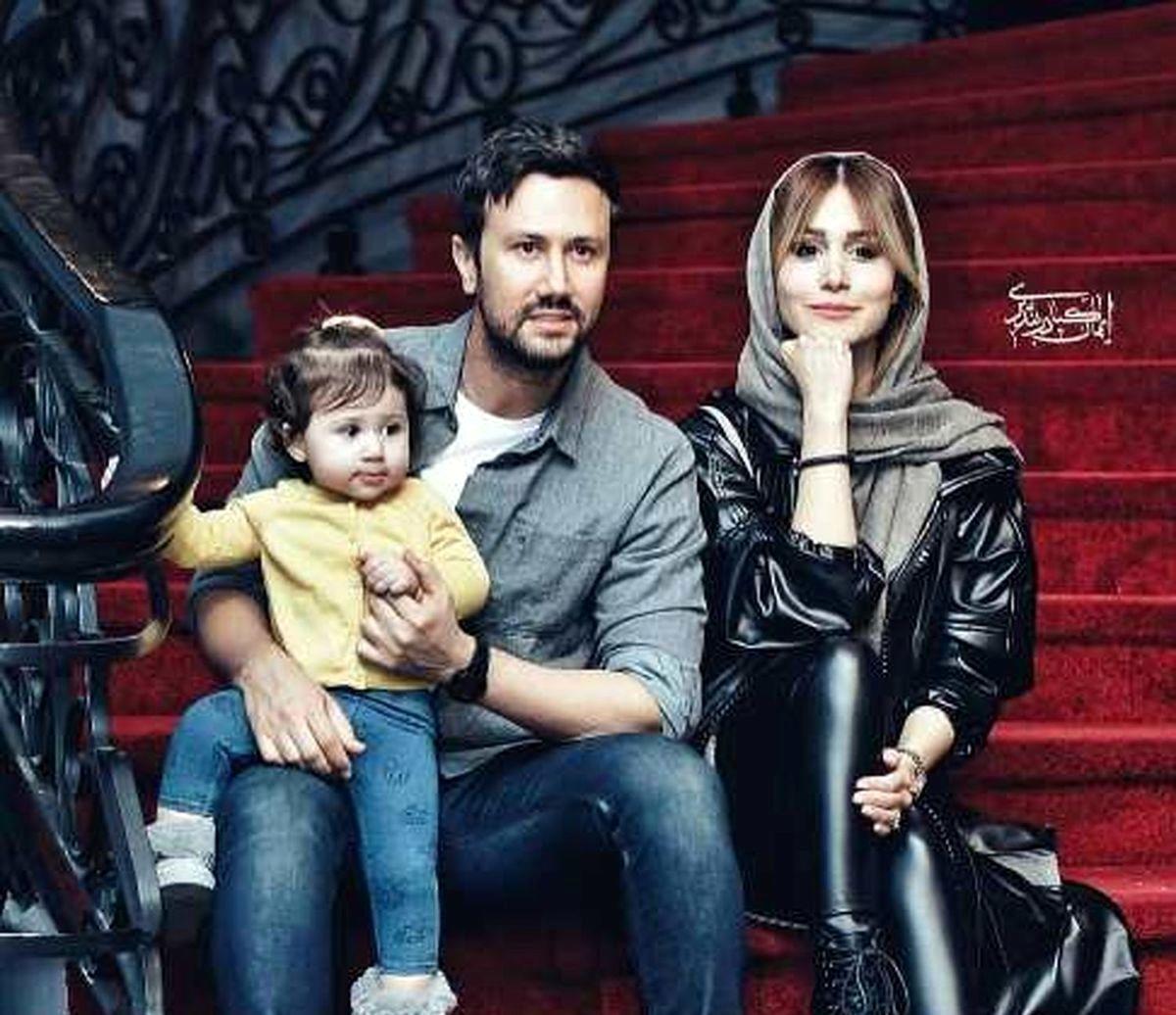 شاهرخ استخری و همسرش مهاجرت کردند + عکس