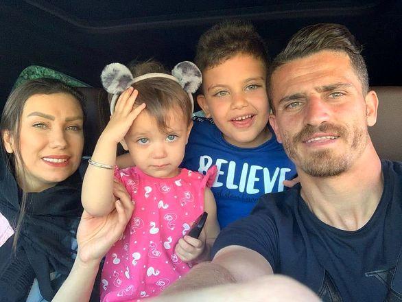 وریا غفوری و همسر و فرزندانش رادین و بارین + تصاویر
