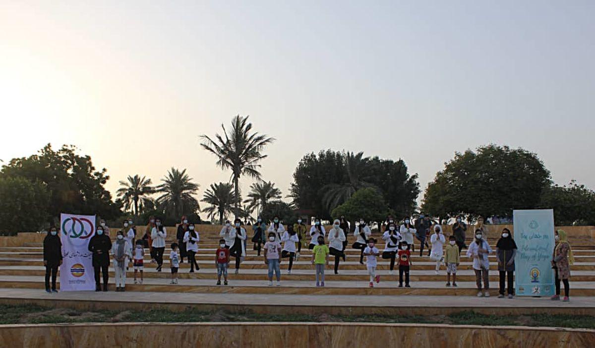 برگزاری همایش یوگا در منطقه آزاد قشم
