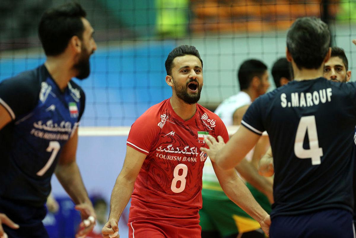 ساعت بازی والیبال ایران و هند   چهارشنبه 27 شهریور