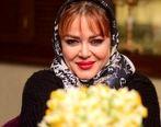 ژست بچگانه بهاره رهنما در آشپزخانه خانه اش | عکس بهاره رهنما و حاجی