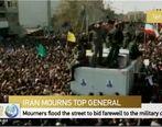 پخش زنده تشییع سردار شهید حاج قاسم سلیمانی در تهران از تلویزیون چین