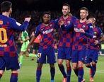 بارسلونا با شاهکار لیونل مسی صعود کرد