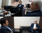 دیدارعلیرضا یزدان دوست مدیرعامل بیمه آسماری با معاون سیاسی –اجتماعی فرمانداری بوشهر