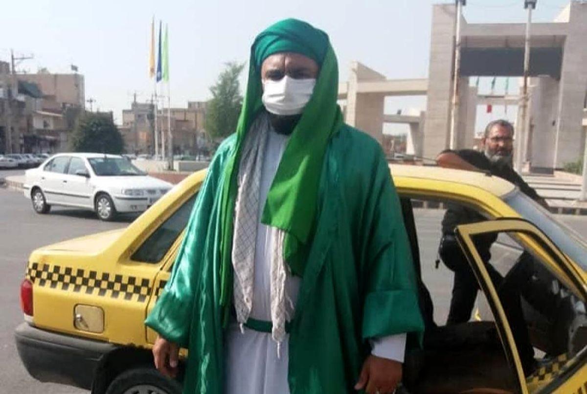 دستگیری امام زمان قلابی با لباس عجیب در ماهشهر + عکس