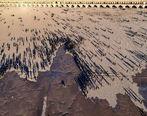 تصویر جالب جاری شدن آب در زایندهرود