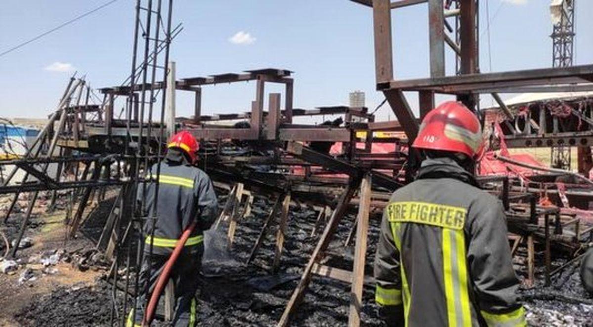 آتش سوزی شدید در سیرک شیراز