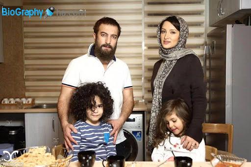 تصاویر مجید صالحی و همسرش و دوقلوهایش