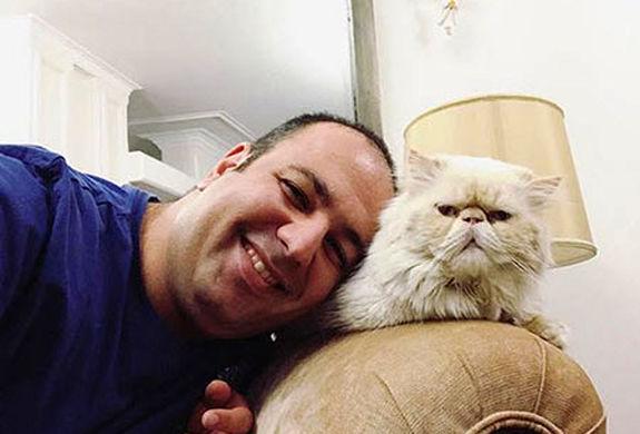 گربه علی اوجی در آرامش و بی خبر از کرونا + عکس