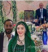 پدر فرشته حسینی سر سفره عقد دخترش + عکس